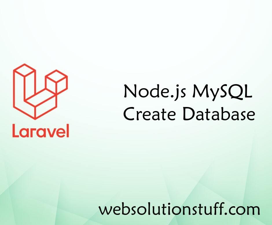 Node.js MySQL Create Database